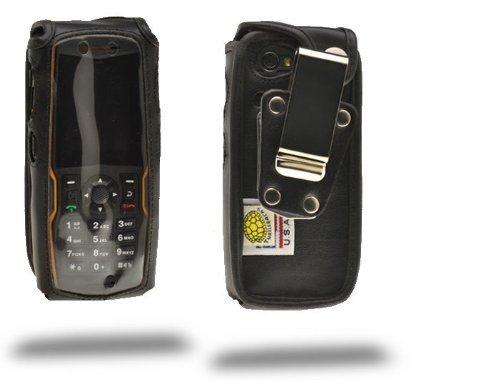 Turtleback ausgestattet Fall Made für Sonim XP 5560Bolt Telefon schwarz Leder drehbar abnehmbaren Gürtelclip aus Metall Made in USA