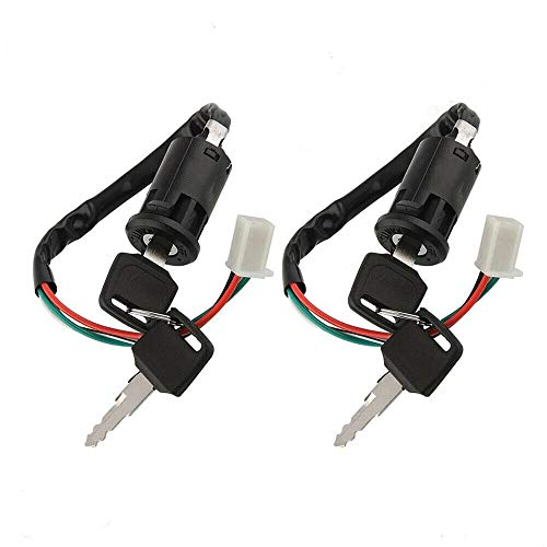 SEEU AGAIN 4 Pin 4 Wires Ignition Switch Key Set with Cap for 50cc 70cc 90cc 110cc 125cc 150cc 200cc 250cc TaoTao SUNL ATV Dirt Bike Electric Scooter