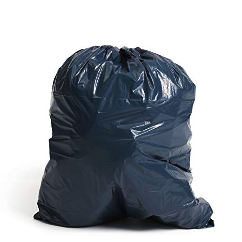 Unique Plastic 30 Piece Plastic Garbage Bag, X-Large, Black