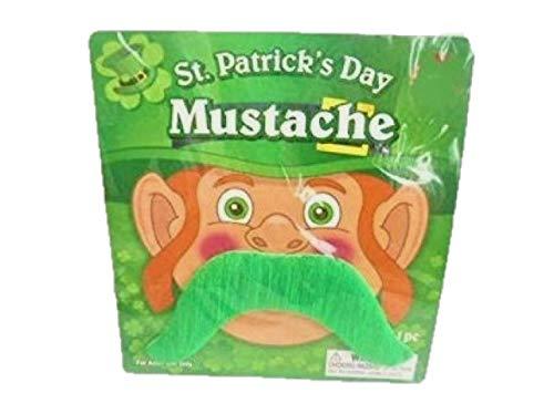 Toyland® St Patrick's Day Groene oversized snor - Accessoires voor kostuums - Vrijgezellenfeest en vrijgezellenfeest aankleden