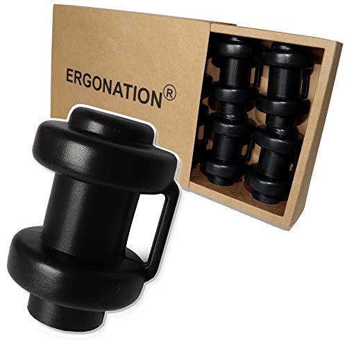 Ergonation® Trampolin Endkappen | Set mit 8 Abschlusskappen zur Befestigung des Sicherheitsnetzes an den Netzstangen des Trampolins (Schwarz)