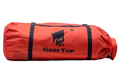 GEERTOP Bolsa para Tienda de Campaña de Lona Ligero - Bolsa de Transporte Ajustable - para Deportes al Aire Libre y Acampadas (Rojo, para Tienda de 2-3 Personas)