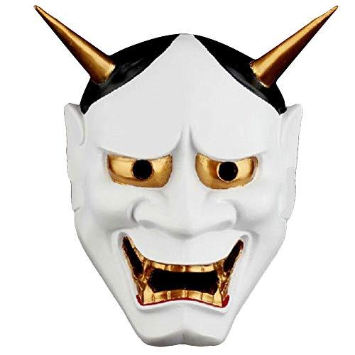 Máscara de Hannya de Halloween Japonés Prajna Ryel Budista Evil Oni Noh Máscara Diablo Demon Cosplay Fiesta Festival Decorativo Máscaras de terror de miedo