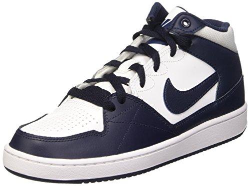 Nike Jungen Priority MID GS Basketball Turnschuhe, Blanco/Negro (White Obsidian), 38 EU