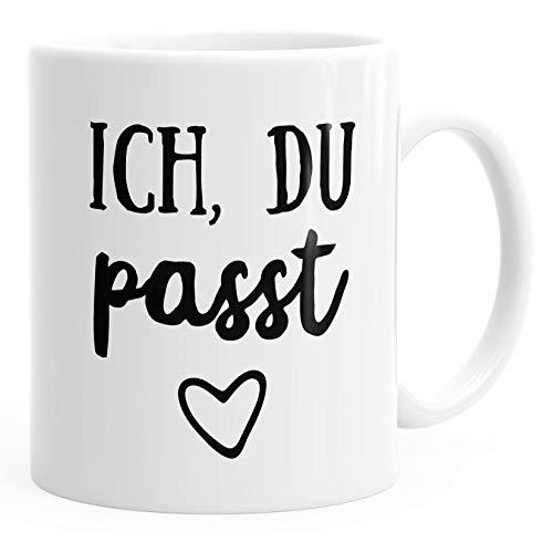 Kaffee-Tasse Ich du passt Geschenk Liebe Valentinstag Freund Freundin MoonWorks® weiß unisize