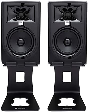 JBL 305P MkII Powered 5 Inch Two Way Studio Monitor Pair Bundle with Knox Gear Monitor Stands product image