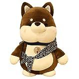 shuanglin 25Cm Anime Kawaii Shiba Inu Juguetes De Peluche Lindos Muñecos De Perro Fugitivo De Color Marrón Oscuro Muñecos De Animales Suaves De Peluche Decorar Regalo para Niños