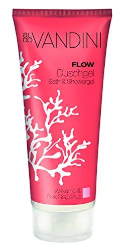 aldoVANDINI FLOW Duschgel für Frauen, Wakame & Pink Grapefruit  - vegan & ohne Parabene, 3er  Pack (3 x  200 ml)