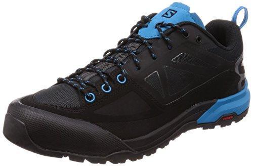 Salomon X ALP Spry, Zapatillas de Senderismo para Hombre, Negro (Black/Magnet/Hawaiian Surf 000), 41 1/3 EU