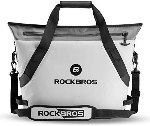 ROCKBROS Bolsa Nevera 22L Enfriamiento 48H Portátil Impermeable Flexible para Camping Picnic Playa Barbacoa Pescar Viaje en Coche Gris