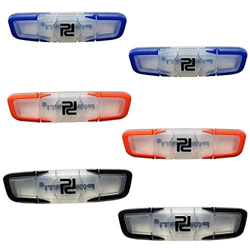 Logther 6Pcs Ammortizzatore per Racchetta da Tennis in Silicon, Antivibrazioni Tennis, Ammortizzatori per Racchette, Accessori per Racchette da Tennis, per Racchette, Racchette da Tennis