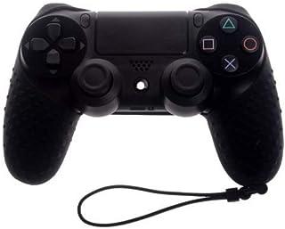 OSTENT Capa protetora de silicone macia para controle sem fio Sony PS4/Slim/Pro cor preta