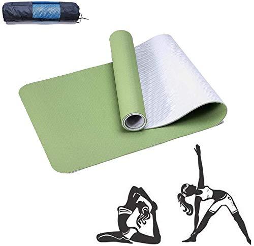 Ayanx Grass Green Rose Red Mat Yoga Adecuado para Principiantes para Hacer Hada, Nidra, Tradición, Pilates, Fitness, Reparación, Prenatal y Muchos Otros Deportes