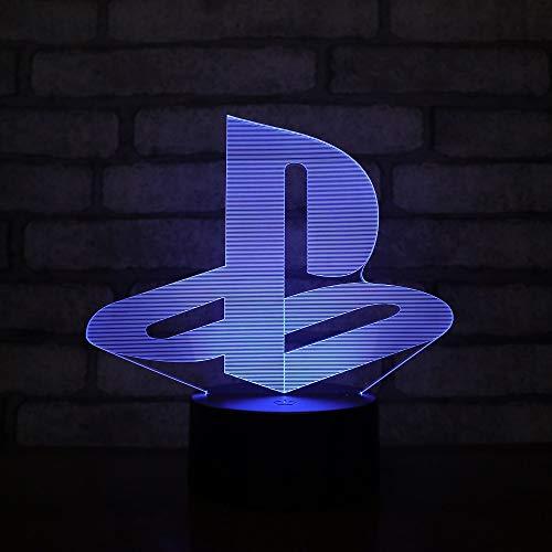 LED-Lampe, Playstation, Logo, Farbwechsel, USB, Nachtlicht