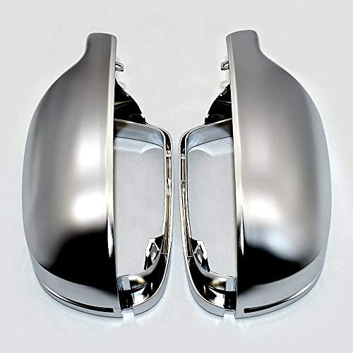 GIAO Cubierta del Espejo retrovisor Cap Cromo Mate De La Cubierta del Espejo Retrovisor Espejo Lateral S Line Fit For Audi A3 A4 A5 B8.5 B8K 2011-2016 Cubierta de retrovisor Lateral