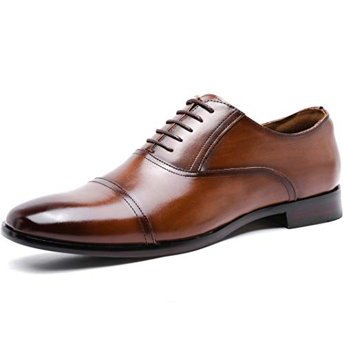 [フォクスセンス] ビジネスシューズ 軽量・撥水 紳士靴 メンズ ストレートチップ 内羽根 ブラウン 28.0cm P507-12