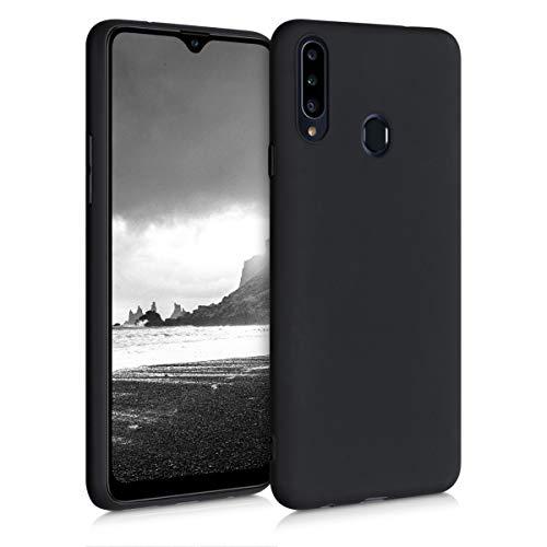 kwmobile Hülle kompatibel mit Samsung Galaxy A20s - Hülle Handyhülle - Handy Hülle in Schwarz matt