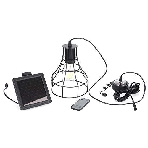 E27 Socket Solar Remote Control Shed Light Garden Study Garage Led Chandelier Warm Light Home Decoration