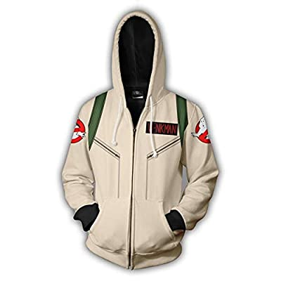 Unisex Adults Venkman Ghostbusters Hoodie Costume with Backpack Print