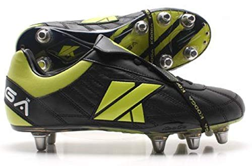 Kooga nuevo Ftx Lcst SG Rugby Boot nero/lime, uomo, black