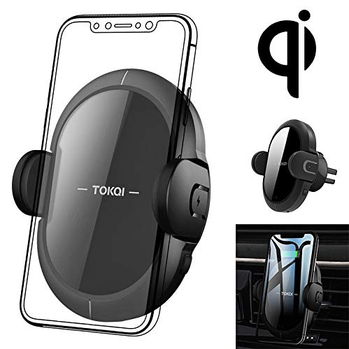 QUMOX Qi Wireless Charger Cradle Mount Car Holder for iPhone XS MAX Samsumg S10 S9 S8