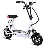 DREAMyun Elektroroller mit Sitz 350W Motor Höchstgeschwindigkeit 30 km/h,10-Zoll Offroad-Roller mit...
