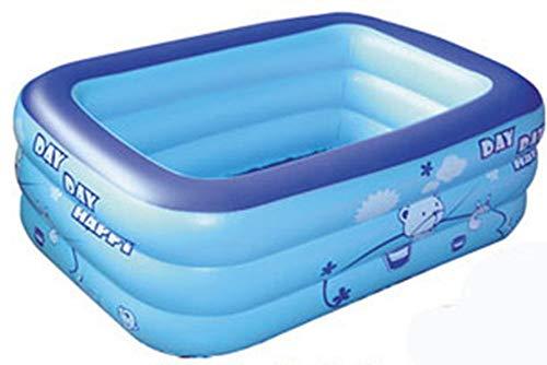 nobrand Wwceem Mink Kayak Rechteckiger aufblasbarer Schwimmhinterhof Innen- und Außenbereich Blau Weiß 125 * 85 * 45 cm Blauer Pool Geeignet für Erwachsene und Kinder Gartenhaus