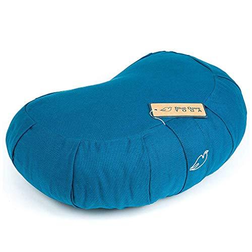 Blue Dove Yoga Crescent - Cuscino Yoga da Donna, Taglia M, Colore: Blu Scuro