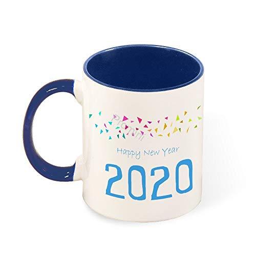 Promini Novelty Mok, Gelukkig Nieuwjaar 2020 (27) Keramische Mok, 11oz Tweetonige Donkerblauwe en Witte Mok, voor Thuis Of Kantoor, Nieuwjaar Cup Cadeau, Twintig Twintig 2020 Mok, Grappig geschenk voor Familie, Koffie of Thee Mok