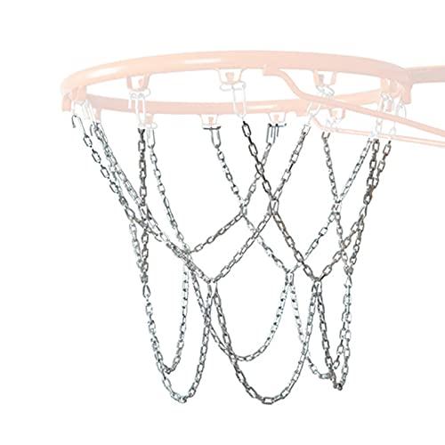 Basketball Ersatz Netz, Verzinktes Metallnetz Basketballnetz, Ballnetz Für Standard Größe BasketballKorb, Eisenkette Basketballnetz Sportartikel Für Outdoor Oder Indoor Basketballnetz, Einfarbig
