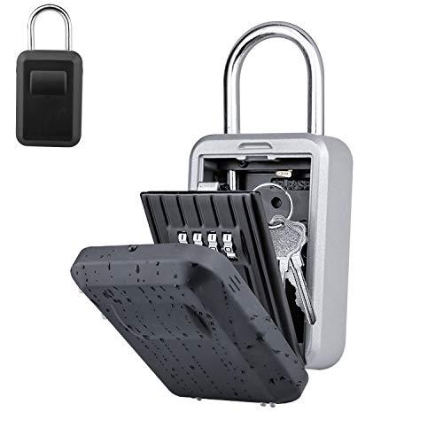 BenRich キーボックス 鍵 ボックス セキュリティーボックス ダイヤル式 4桁 収納 鍵管理 防犯 盗難防止 隠し金庫 収納ボックス キュリオロック 日本語説明書付き ブラック
