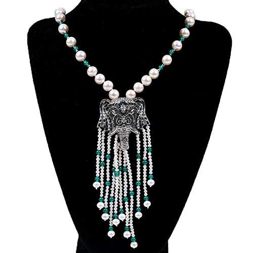 EHDFS El Collar de Perlas barrocas de Agua Dulce Amantes y Amigos, lo Que Significa Buena Suerte.