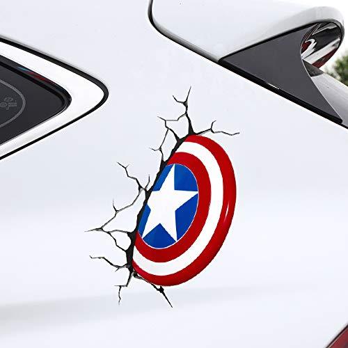 Super Avengers Alliance 3D Etiqueta engomada del Coche estéreo Iron Man Hulk Little Yellow Man Etiqueta engomada Divertida del Coche