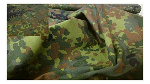 Fabrics-City% SCHWARZ/BRAUN/GRÜN BUNDESWEHR LAND CAMOUFLAGE STOFF BAUMWOLLE STOFFE, 3571