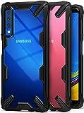 Ringke Fusion-X Kompatibel mit Galaxy A7 2018 Hülle [Schwarz] Transparent PC Rückseite Schutzhülle Black Flexibel TPU Rahmen Case Ergonomische Cover Dünn Kratzfest Handyhülle für Galaxy A7 2018