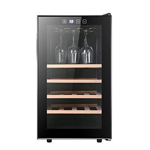 LLSL Refrigerato Vino Refrigeratore, Frigorifero per Porte Singola per Famiglie, Temperatura costante Cabinetto per Vino/tè Armadio per Il tè/Ghiaccio 12 capacità della Bottiglia