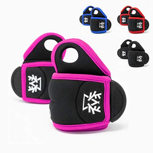 Outdeers Gewichtsmanschette Handgelenk Set in 4 Farben, 0,5kg - 1kg, Hoher Neopren, Universal Handgewicht, Ankle Weight, Gelenkgewicht für Handgelenk (pink | schwarz, 0,5 kg)