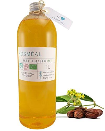 Aceite De Jojoba Ecologico 1L - 100% puro y natural - BIO Aceite Prensado En Frío