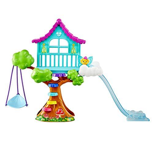 Barbie GTF49 - Dreamtopia Chelsea Regenbogen-Schaukel-Spielset mit Puppe, Geschenk für Kinder von 3 bis 7 Jahren