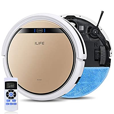 ILIFE V5s Pro 2, 2-in-1 Robot Vacuum and Mop, Slim, Automatic Self-Charging Robotic Vacuum, Daily Schedule, Zigzag Cleaning Path, Ideal for Pet Hair, Hard Floor and Low Pile Carpet