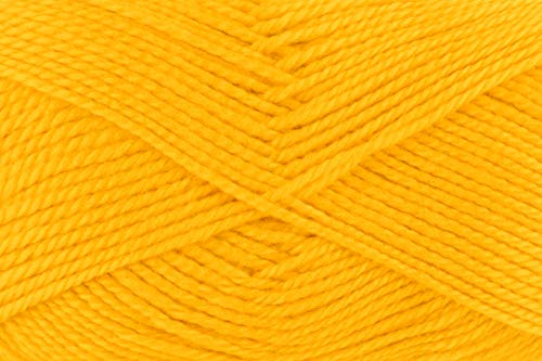 Gründl Lisa Premium Wolle, Polyacryl, gelb, 133 m, Nadelstärke 3,5- 4,5, 10er Pack