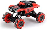 Nixi888 2,4 G Wireless Remote Control 4WD Escalada Coche Automático Demostración RC Coche Truck Bigfoot Monsterwith Batería Recargable Hobby orugas para el Regalo Boy (Color : Red)