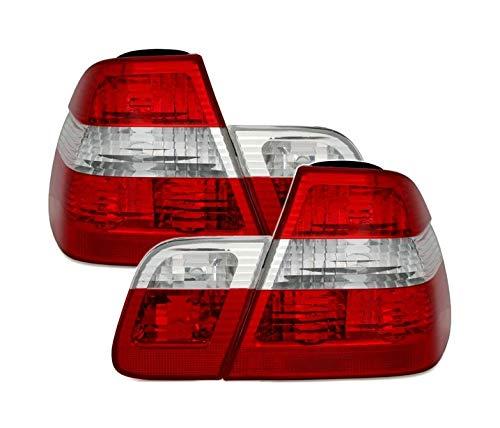 V-maxzone Dzyna Jewellery Vt22 Ensemble de queue de feux arrière en verre clair rouge Blanc