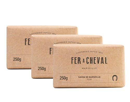 Herradura – Jabón de Marsella con aceite de oliva – Jabón 3 x 250 g
