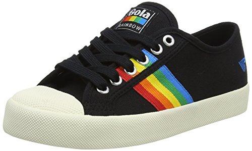 Gola Damen Coaster Rainbow Sneaker, Schwarz (Black/Multi Bz), 38 EU