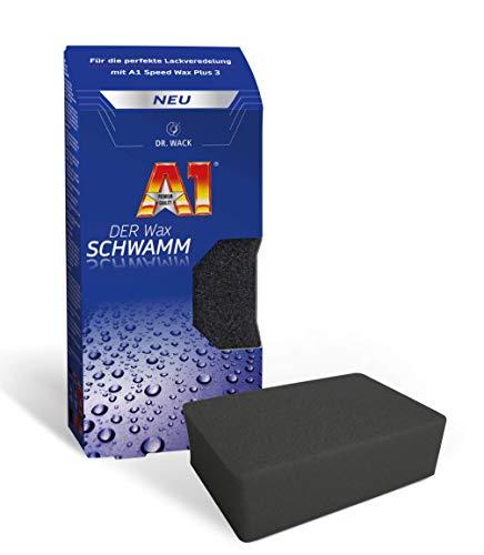 Dr. Wack – A1 DER Wax SCHWAMM I Premium Schwamm zum Auto-Wachsen I Perfekt zum Auftragen des A1 Speed Wax Plus 3 I Langlebiger Wachs-Schwamm für alle Lacke I Hochwertige Autopflege – Made in Germany