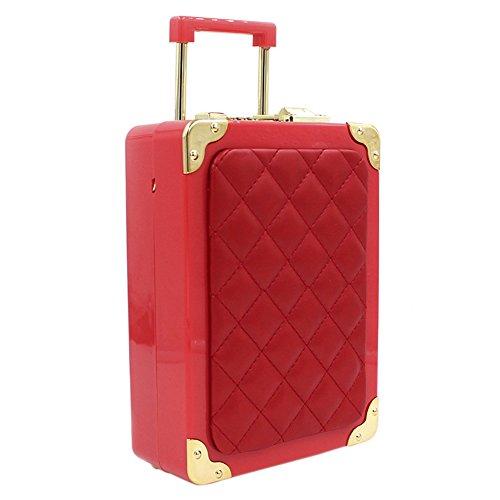 Onfashion dames meisjes acryl mini type bagage gevormde vrouwen tas handtas koffer kleine schoudertas