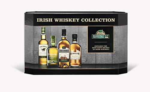 Cooleys Irish Whiskey Geschenkset mit Tyrconnell, Connemara, Kilbeggan Traditional and Single Grain, 4 x 0,05l (4er Pack)