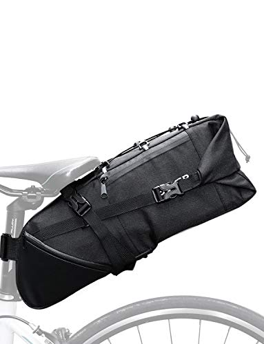 Lixada Fahrradtaschen Gepäckträger Wasserdicht Sitz Multifunktionale Tasche MTB Rennrad Rack Carrier 13L / 25L(Optional) (3-10L Schwarz)