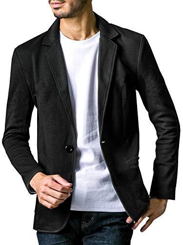 liberte riche(リベルテ リッシュ) メンズ ジャケット テーラードジャケット スウェット ビジネス カジュアル 細身 ストレッチ 6color 5サイズ展開 ブラック M